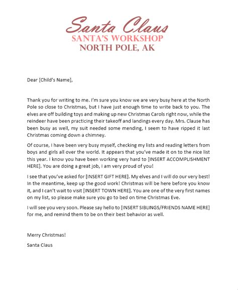 printable letters from santa s elves free printable letters from santa his elves the shady lane