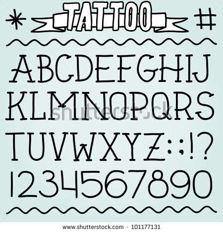new school tattoo lettering old school tattoo alphabet and numbers art design