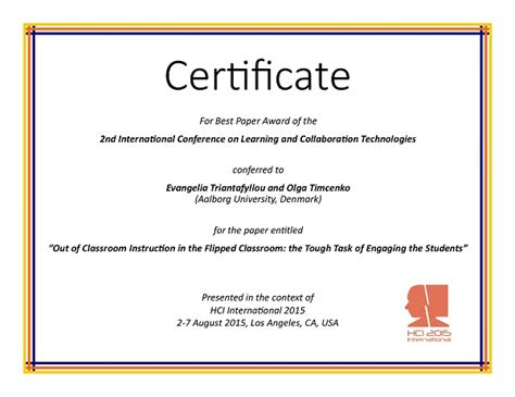 international conference certificate templates best paper certificate template gallery certificate