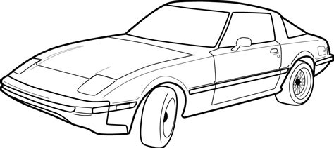 car coloring page outline car outlines cliparts co