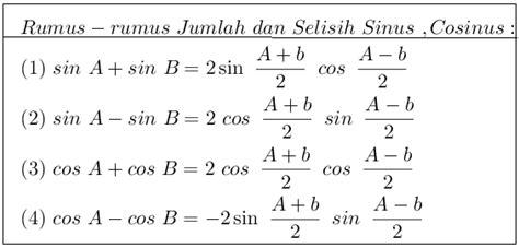 rumus rumus trigonometri belajar matematika