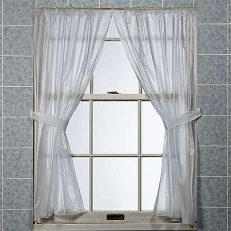 Bathroom Shower Window Curtains 5 Bath Window Panel Pair Bed Bath Beyond