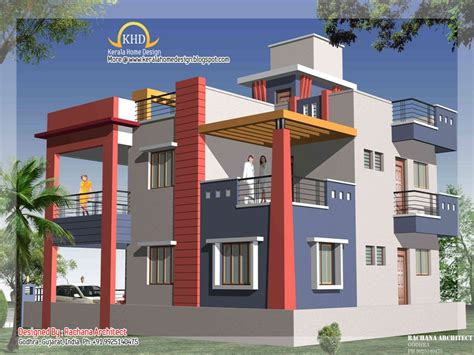 2 Bedroom House Designs In India 2 Bedroom Duplex Apartment Duplex House Elevation Small House Plans India Mexzhouse