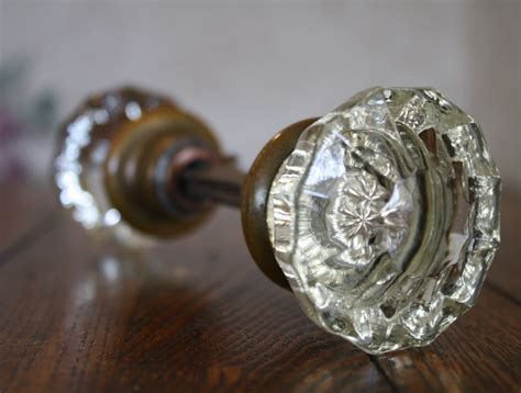 Glass Door Knobs by Beautiful Set Of Antique Glass Door Knobs