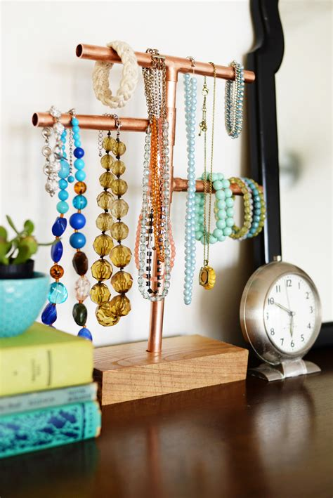 how to make jewelry stands and displays diy copper pipe jewelry stand