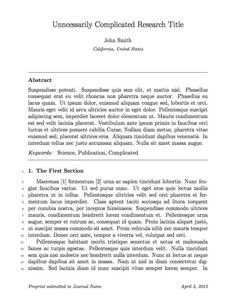 journal article layout template latex templates 187 academic journals