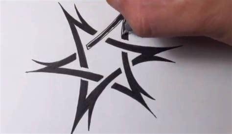 quick tattoos drawing a tribal of david design