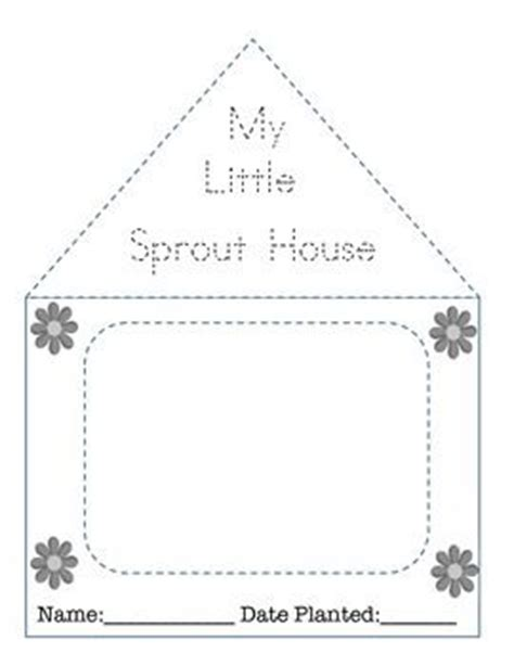 printable greenhouse my little sprout house template house template house