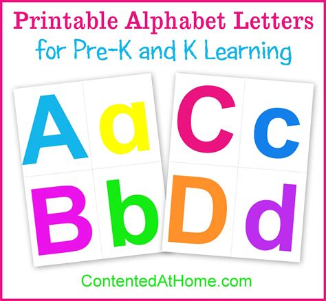 printable alphabet printable alphabet letters contented at home