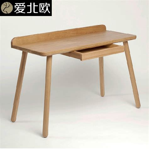 Modern Solid Wood Desk Nordic Contracted Study Desk Modern Solid Wood Desk Creative Household White Oak Desk In