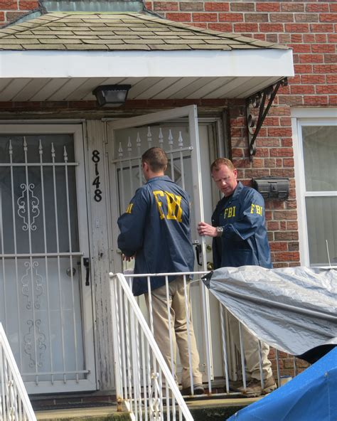 Fbi At Door by F B I Starts Dig In Ozone Park Looking For Human
