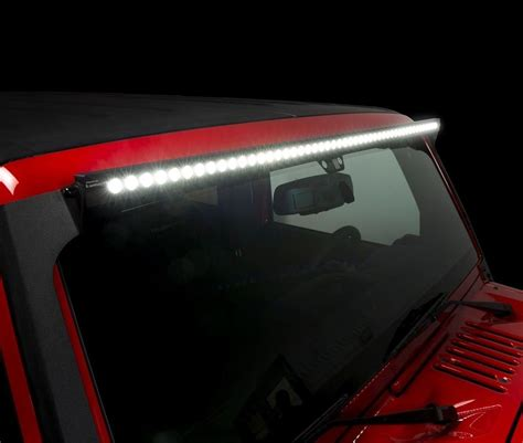 Roof Led Light Bar Rt Offroad Rt28034 Jeep Wrangler Jk 2007 2015 50 Quot Led Light Bar With Roof Bracket Kit