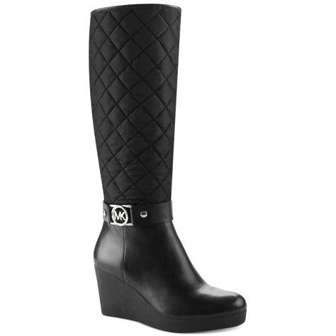 michael kors aaran cold weather wedge boots in black