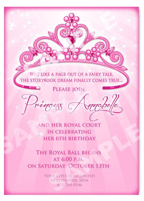 princess invites free templates free printable princess birthday invitation templates