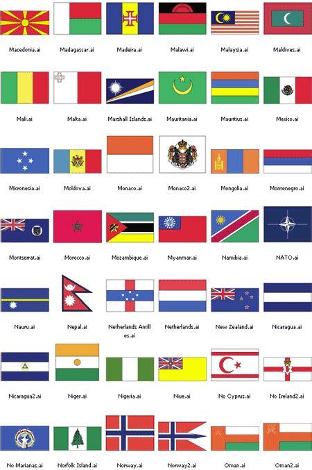 flags of the world free vector world flag vector pojoksaridownloads