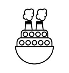toy boat icon ship boat toy isolated icon royalty free vector image