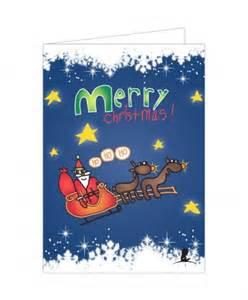 santa and reindeer christmas card st jude gift shop