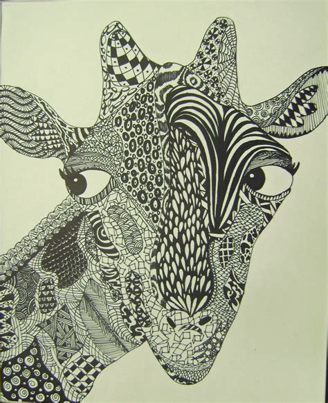 zentangle pattern giraffe maddison zentangle november art display at school