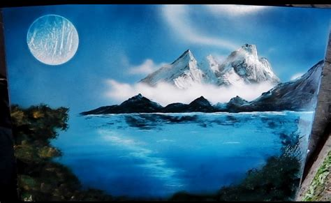 spray paint how to make mountains how to spray paint mountain lake with