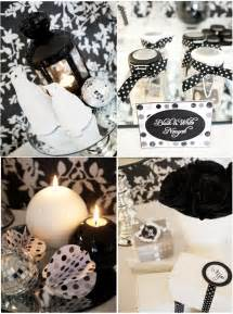 Black And White Themed Party Decorations - white party decorations party favors ideas