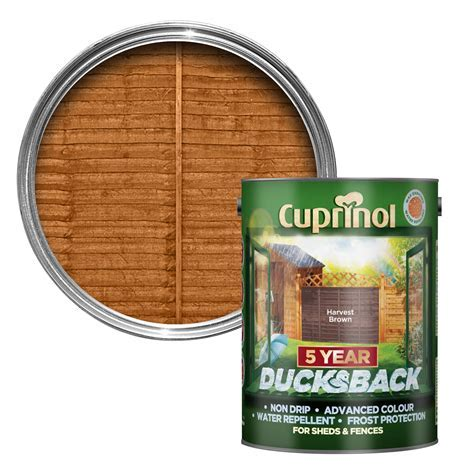 Cuprinol 5 Year Ducksback Harvest brown Shed & fence