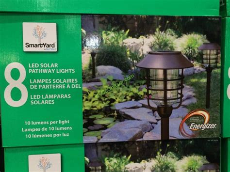 solar yard lights costco costco 922354 smart yard led solar pathway light box
