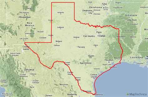 states that border texas map buy u s county gis boundary and geodata maptechnica