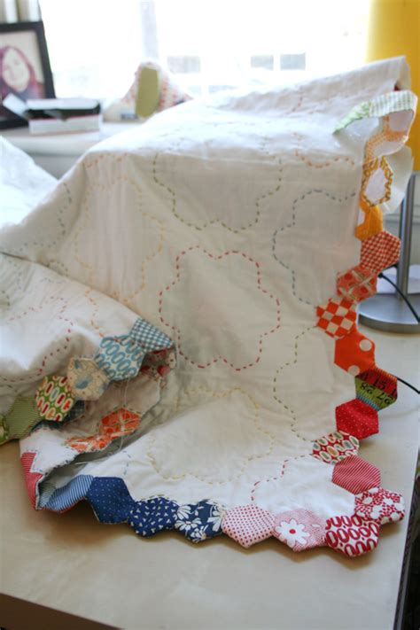 Finishing A Quilt by Badskirt Finishing Your Hexagon Quilts Tutorial
