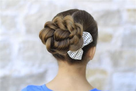 short hair gymnastics style rope twisted bun hairstyles for prom cute girls hairstyles