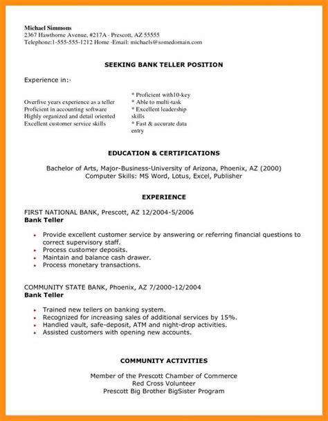 resume examples banking resume samples for banking bank resume