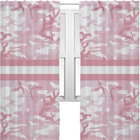 pink camo curtains pink camo sheer curtains personalized youcustomizeit