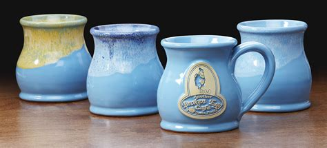 powder blue powder blue logo mugs deneen pottery