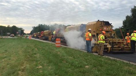 parma section 8 paving underway on lake ontario state parkway from hamlin