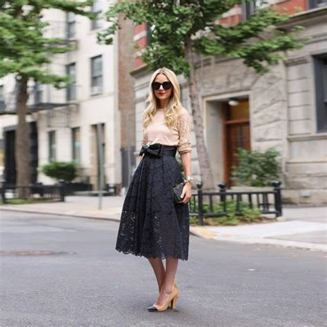 Black Bow Lace Skirt Set fashion black lace skirt with satin knot bow