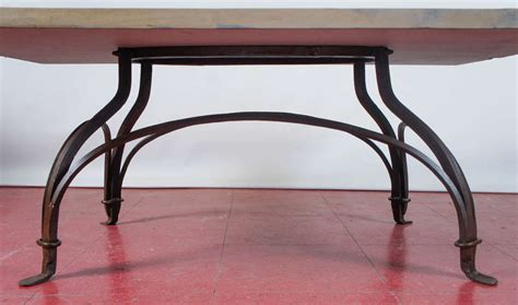 Wrought Iron Patio Coffee Table Wrought Iron And Garden Coffee Table At 1stdibs