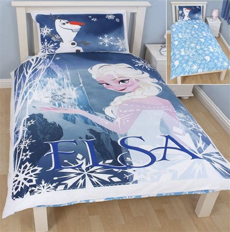 elsa bed disney frozen elsa and olaf single reversible duvet set quilt cover bedding ebay