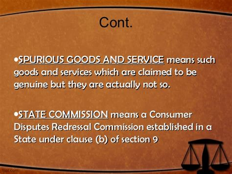 section 27 of consumer protection act consumer protection act 1986