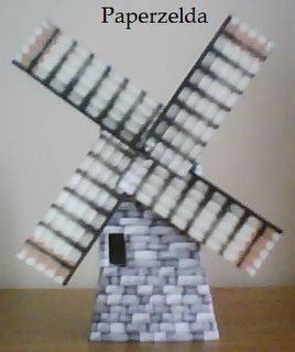 Origami Ocarina - kakariko s windmill papercraft papercraft