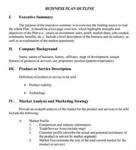 business plan outline template free business plan outline template 10 free