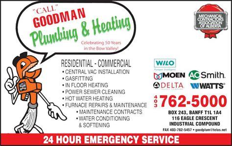 goodman plumbing heating 116 eagle cres industrial