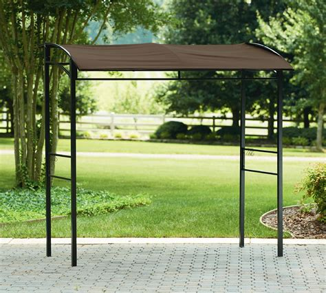 essential garden grill gazebo with fabric canopy limited