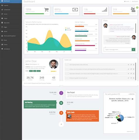 dashboard templates free 20 admin dashboard templates free for your web