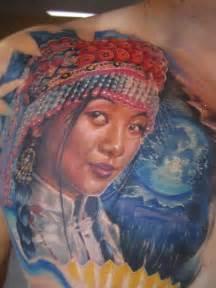 hmong tattoo hmong color portrait by fwa xyooj by fwaxyooj on