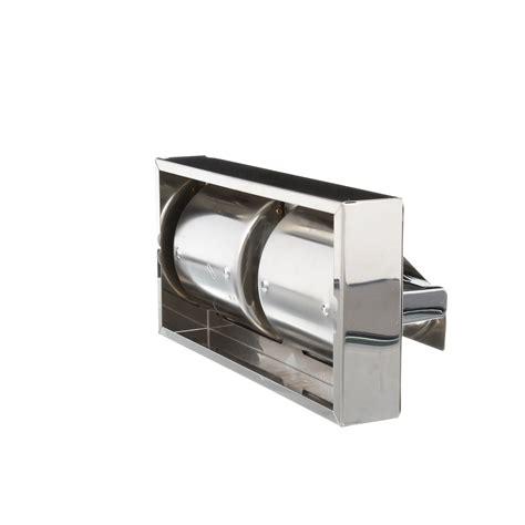 dual roll toilet tissue dispenser surface mounted hinged dual roll toilet tissue
