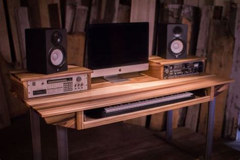 crafted studio desk for audio production w