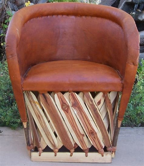 mexican equipale cushioned leather chair brick color