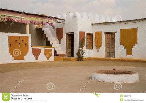 Small House Designs In Rajasthan Traditional House In Thar Desert Stock Photo Image 48509718