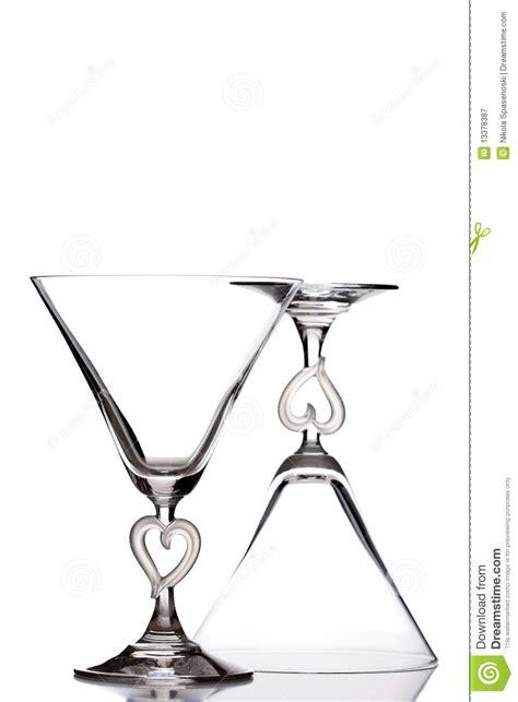 martini shaped martini glasses royalty free stock photography image