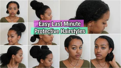 how to quick cute easy protective style on short 5 quick easy protective hairstyles on natural hair