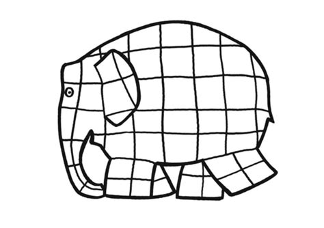 Elmer Elephant Coloring Page Clipart Best Elmer Colouring Pages